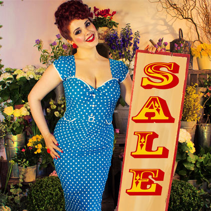 Deadly is the Female Sale - reductions on Pinup Girl Clothing, Stop Staring, Trashy Diva, Ruby Shoo, Tatayana, Esther Williams swimwear and more!