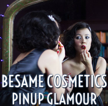 Vintage style Besame Cosmetics - official UK stockists Deadly is the Female