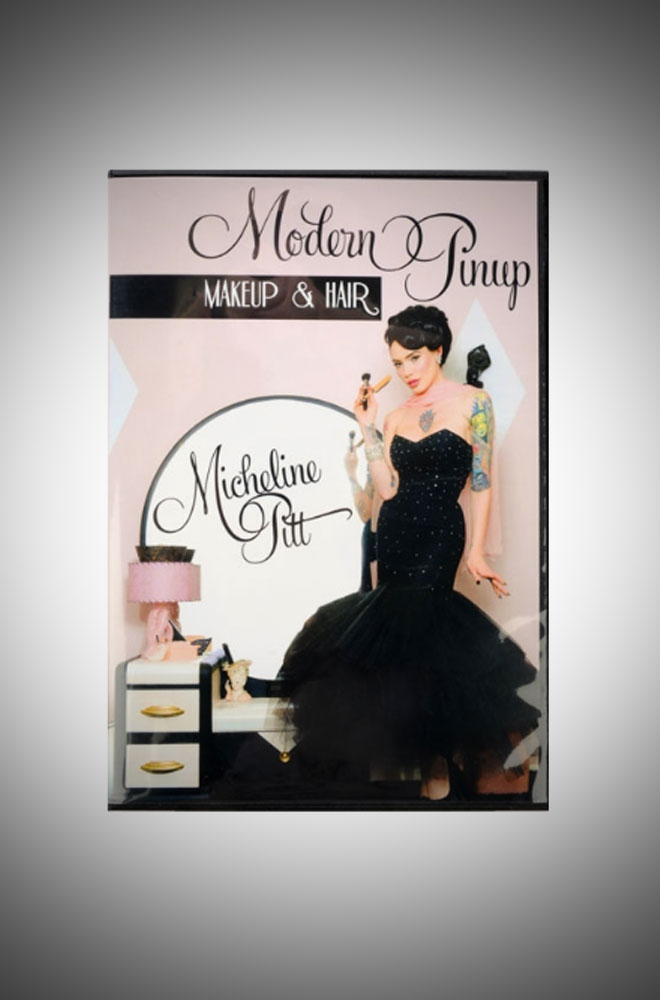 Micheline Pitt's Modern Pinup Hair and Makeup Tutorial DVD
