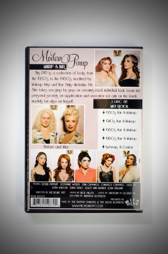 Micheline Pitt's Modern Pinup Hair and Makeup DVD