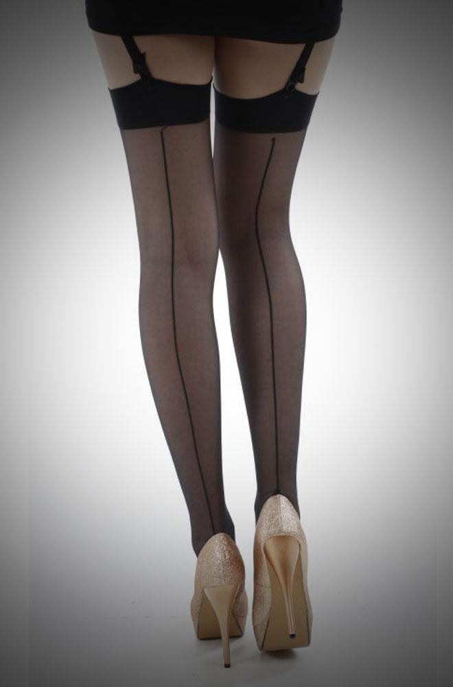Jive Seamed Stockings Black/Black £7.00
