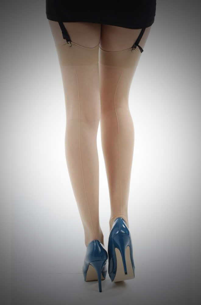 Jive Seamed Stockings in Champagne £7.00