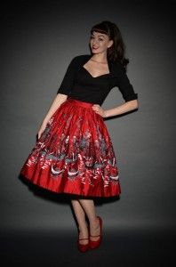 Italian Landscape Jenny Skirt by Pinup Girl Clothing at UK stockists Deadly is the Female