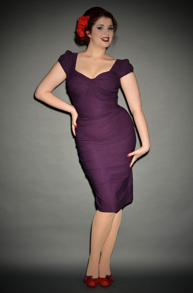 Stop Staring Aubergine Billion Dollar Baby Dress - the perfect dress to help you stand out from the crowd! This wiggle dress is an attention grabber!