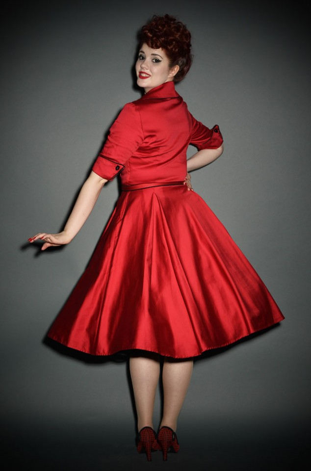 Deadly Dames red Haunted Housewife Dress at Deadly is the Female