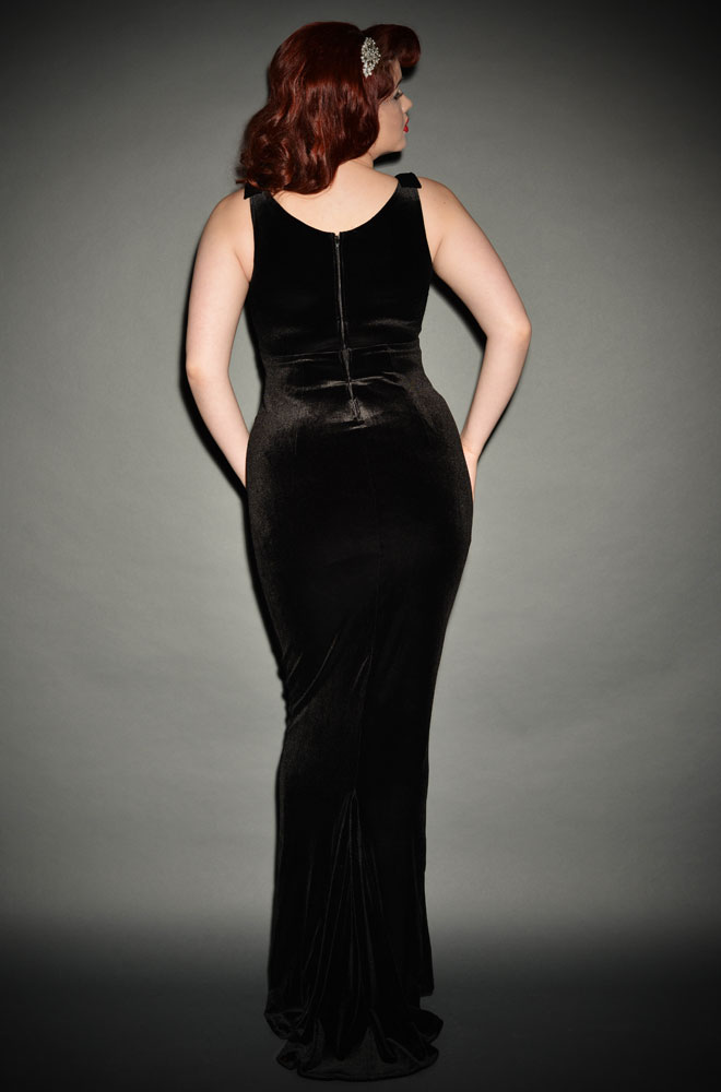 Black Velvet Gilda Gown by Laura Byrnes at Deadly is the Female