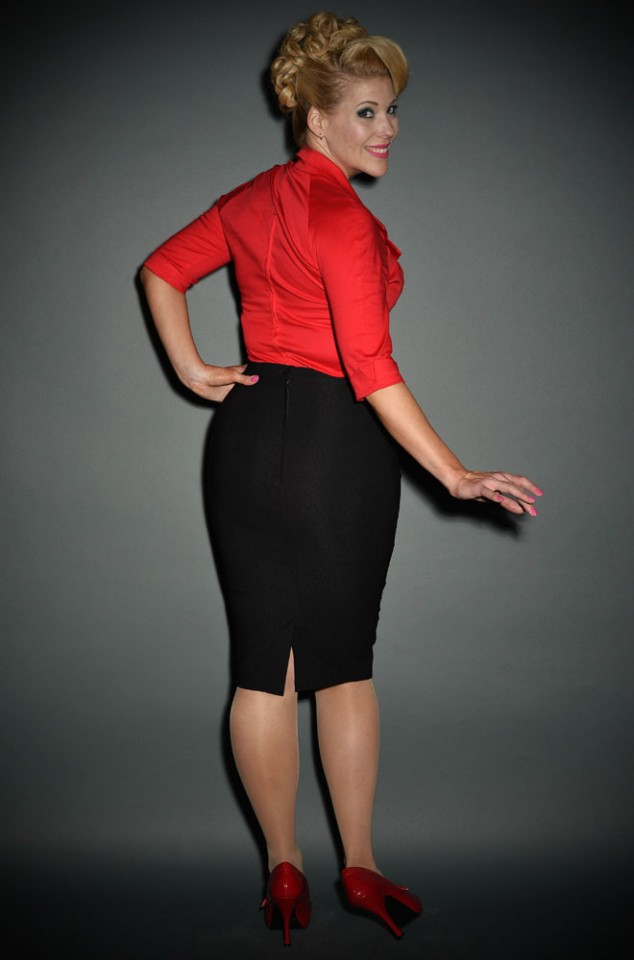 Pinup Girl Dixiefried Perfect Pencil Skirt in Black