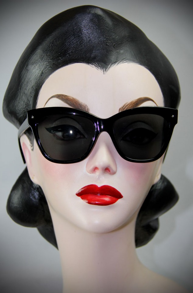 Black Grace Kelly Sunglasses at Deadly is the Female