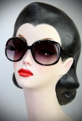 Holly Golightly Sunglasses in Black at Deadly is the Female