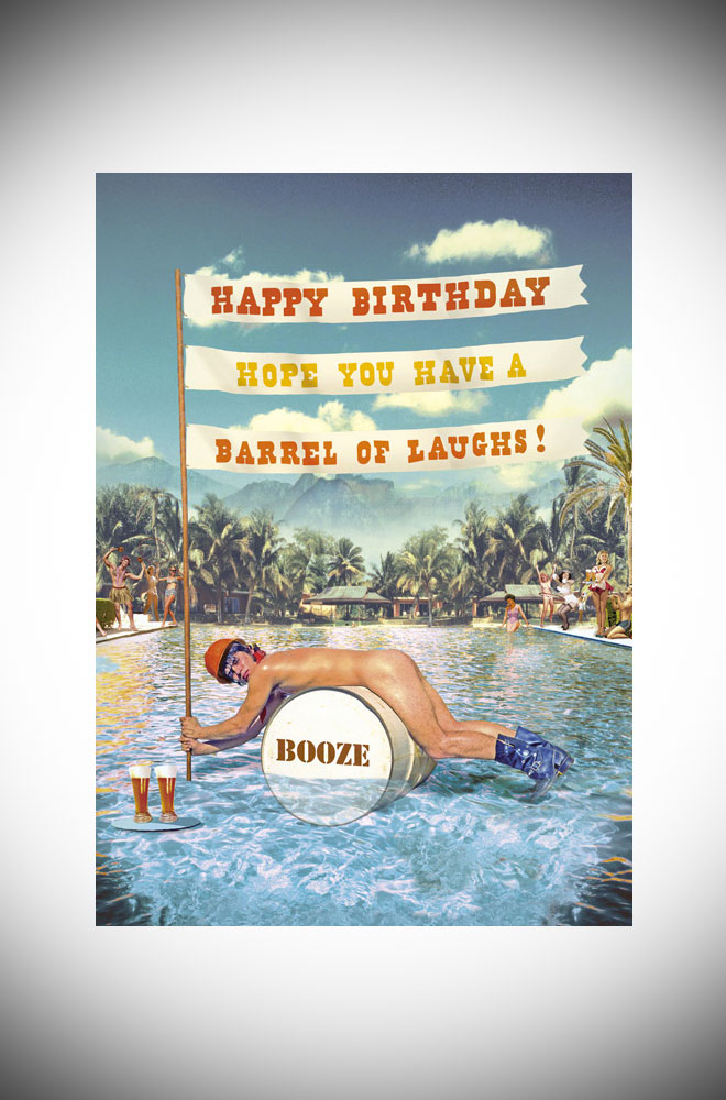 Max Hern Bikini greetings card - kitsch and cheeky birthday card
