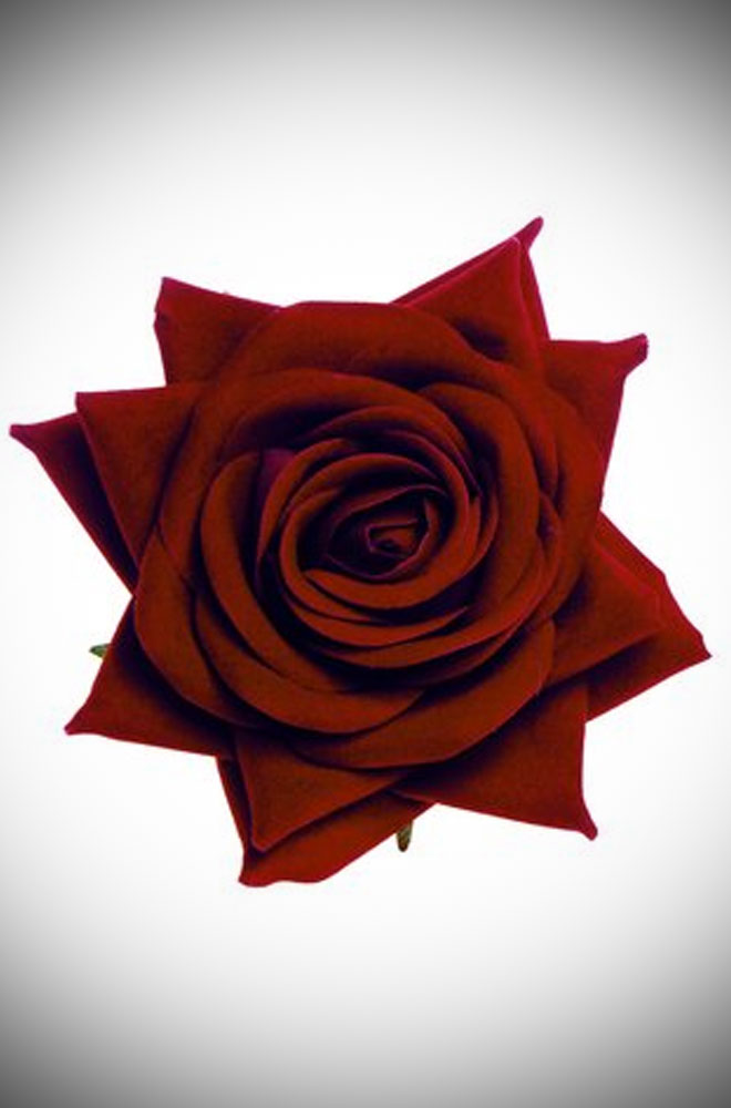Deep Red Vintage Style Rose - perfect for pin up girls