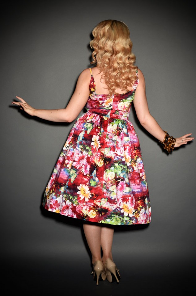 Vintage style 50's Tropical Garden butterfly swing dress at Deadly is the Female
