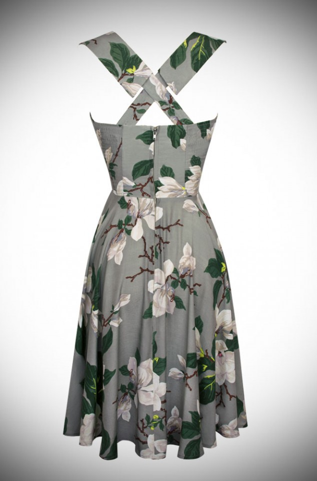 Trashy Diva 50s style Honey Sun Dress in Steel Magnolia Print