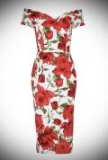 1950's style Red Sorrento Rose Fatale pretty dress company wiggle dress