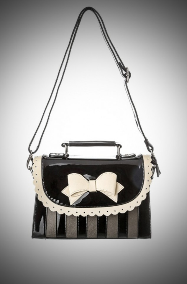 Lola Ramona Girly Vintage bag in black and grey at Deadly is the Female