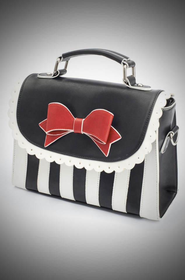 Lola Ramona Girly Vintage bag in black and white at Deadly is the Female