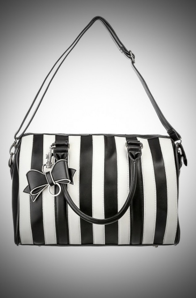 Lola Ramona Viola Weekend bag in black and white at Deadly is the Female