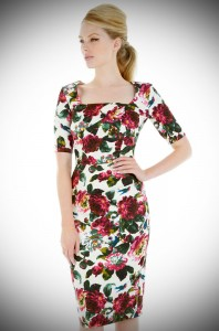 50's style Atlanta Birdie wiggle dress by Pretty Dress Company at Deadly is the Female