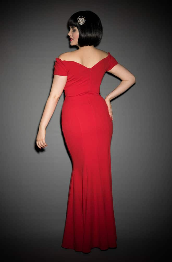 1950's Hollywood Glamour Fatale wiggle gown at Deadly is the Female by the Pretty Dress Company