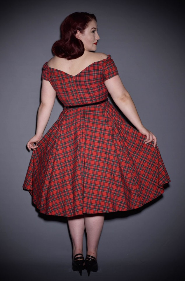 Blending femme fatale style with a classic 50's silhouette - introducing the Tartan Fatale Prom dress! Deadly is the Female are proud stockists of The Pretty Dress Company.