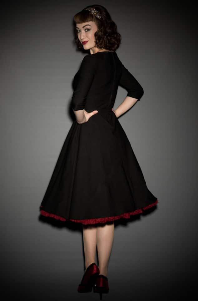 Pinup Girl Erin Swing Dress in Black at UK Stockists Deadly is the Female
