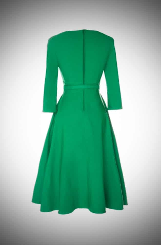 Pinup Girl Clothing Erin Swing Dress in Emerald Green at UK Stockists Deadly is the Female