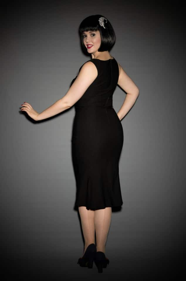 Pinup Girl Clothing Jessica Dress in Black at UK Stockists Deadly is the Female
