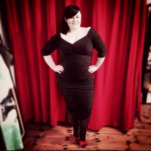 Lauren looking fabulous in the Monica Dress in Black