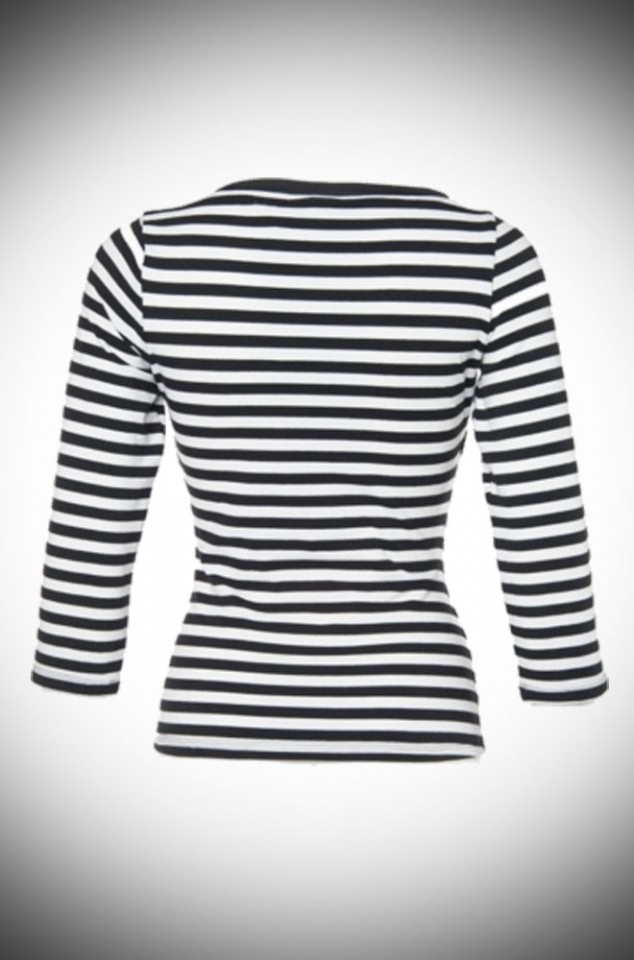 Vintage Striped Boatneck Top from Pinup Girl UK Stockists at Deadly is the Female