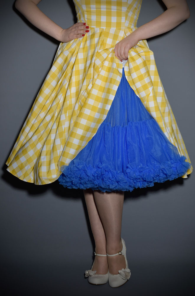 Vintage Style Blue Chiffon Petticoat at Deadly is the Female