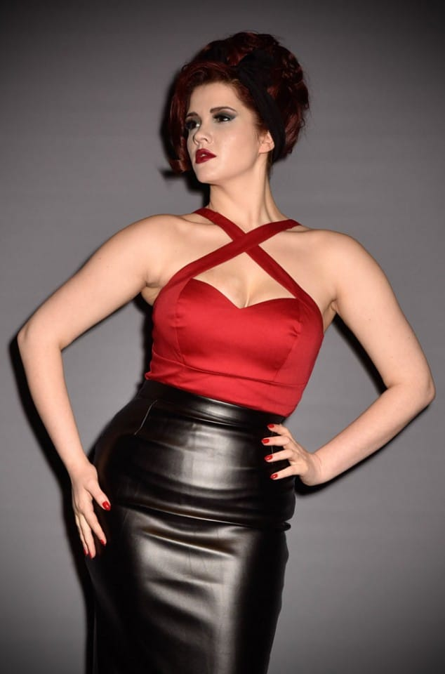 Deadly Dames Pinup Girl Voodoo Vixen top in red at official UK stockists Deadly is the Female