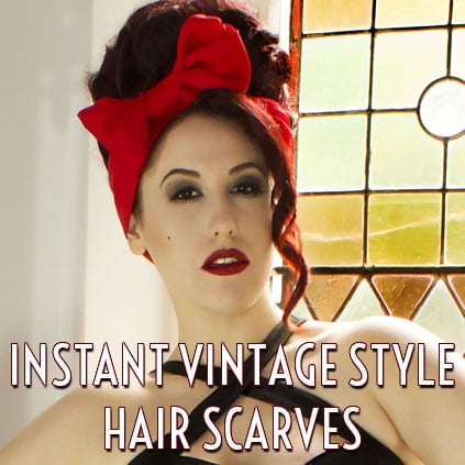Vintage Pinup Rockabilly Amy Winehouse Hair Scarves