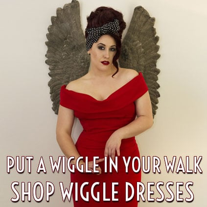 Vintage Style wiggle and pencil dresses by Pinup Girl Clothing, Stop Staring, Trashy Diva and The Pretty Dress Company