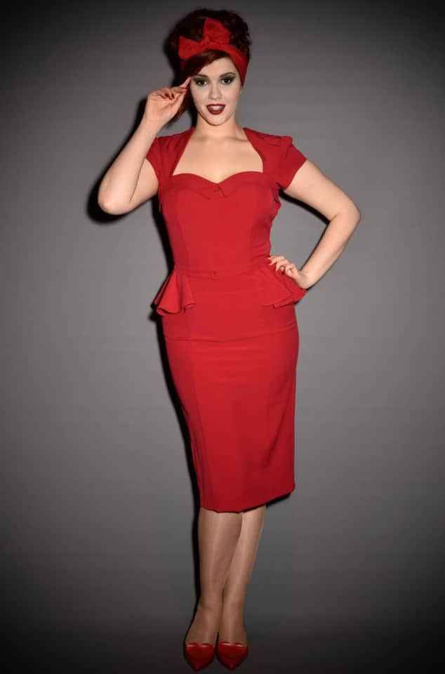 Stop Staring Audrey Peplum wiggle dress at UK stockists Deadly is the Female