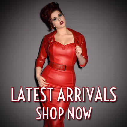 Shop Deadly is the Female New In items from Pinup Girl Clothing, Deadly Dames, Laura Byrnes California, Stop Staring, Trashy Diva, The Pretty Dress Company, Vivienne Westwood, Melissa Shoes, Ruby Shoo and More!