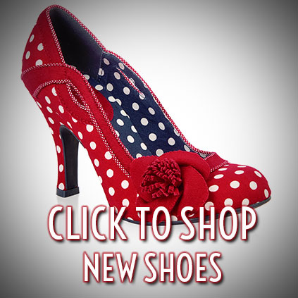 Shop New Vintage Style Shoes from Vivienne Westwood, Ruby Shoo, Pleaser and more at Deadly is the Female
