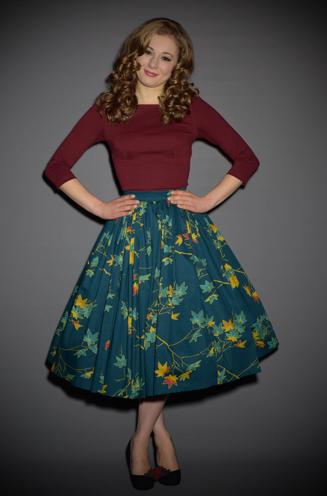 Jenny Skirt in Leaves Print