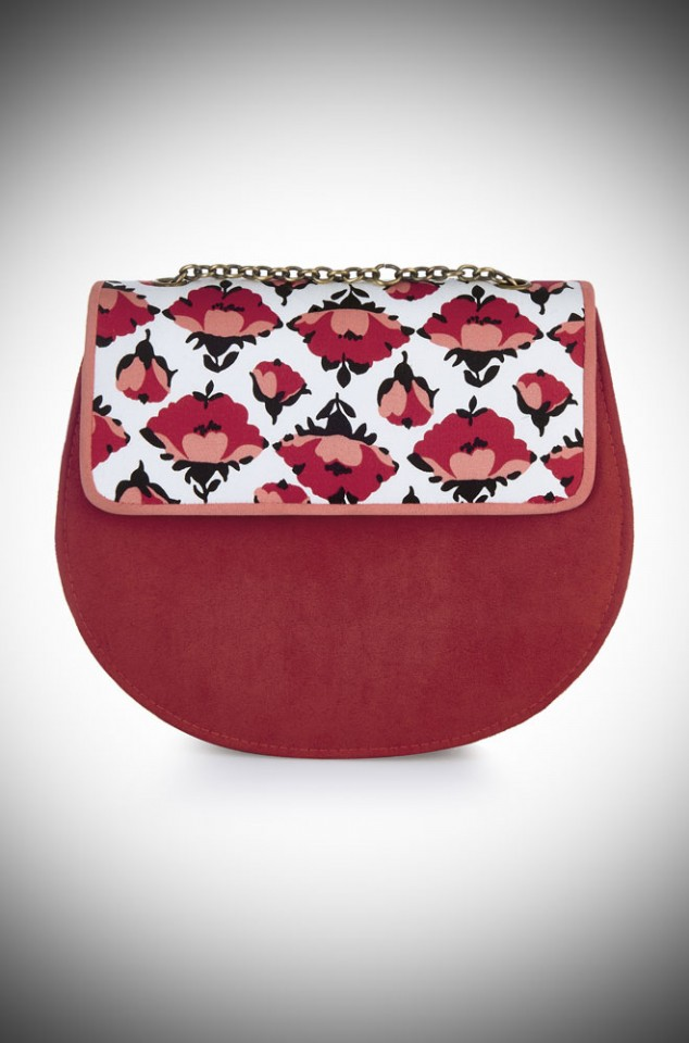 Miami Bag by Ruby Shoo - a retro deco inspired Tulip Print bag to match our Willow shoes