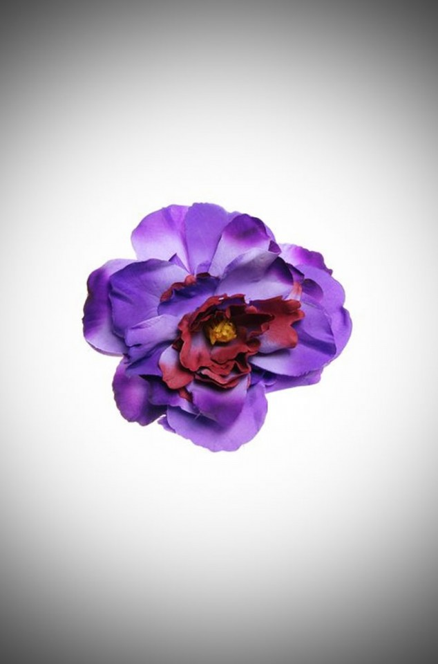 Vintage style pinup lilac peony flower hair clip & brooch