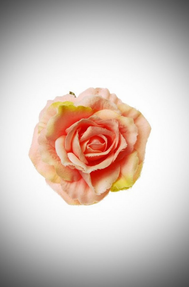 Vintage style pinup Peach Rose Hair clip and brooch
