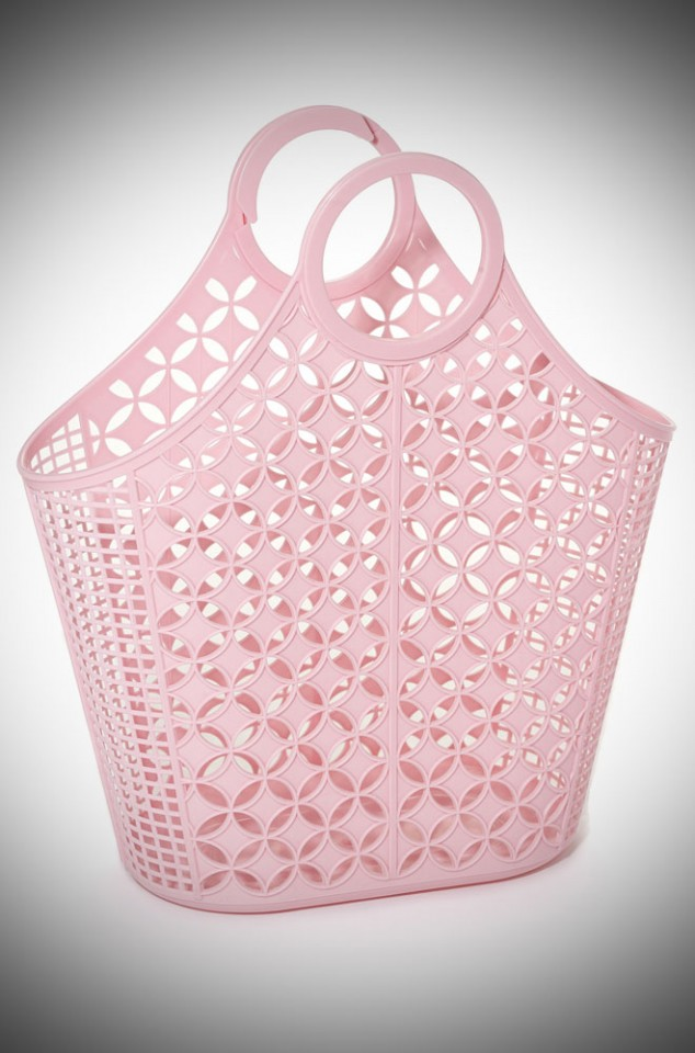 Atomic Tote Bag. Amelia is a pink recyclable plastic carrier bag.
