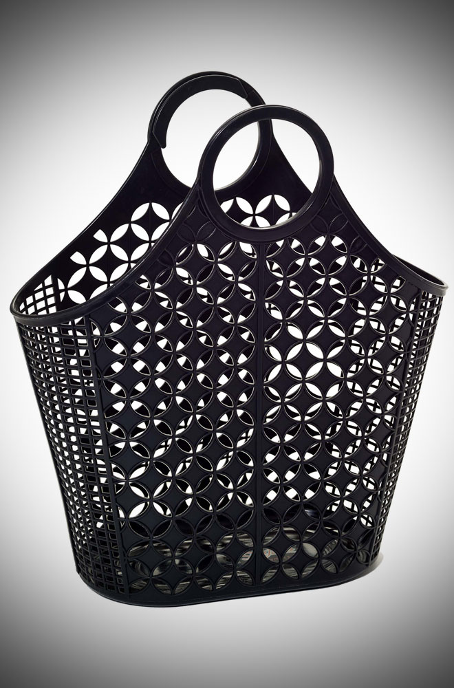 Dahlia Atomic Tote Bag - a mint recyclable plastic carrier bag.