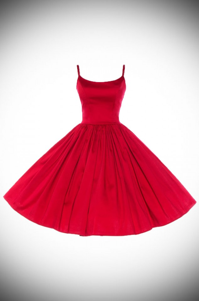 Jenny Dress in Red by Pinup Couture at UK stockists, Deadly is the Female