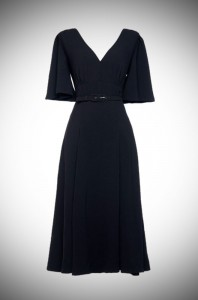 Black Crepe Viva Dress by Laura Byrnes at UK Stockists Deadly is the Female