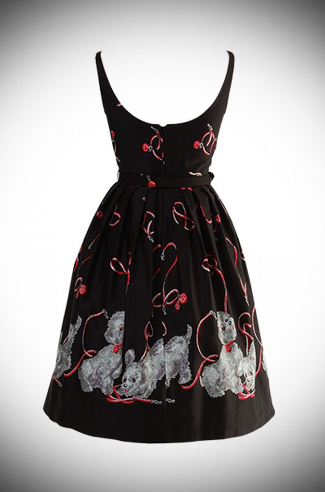 50's style novelty print dress. The Walk in the Park Betty Dress