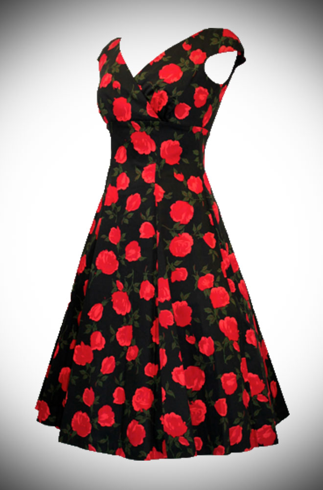 Retrospec'd Empire Casablanca 50's style floral dress