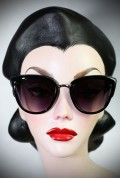 Vintage style Black Jackie Kennedy sunglasses at Deadly is the Female. Effortlessly add some pinup glamour to your day!