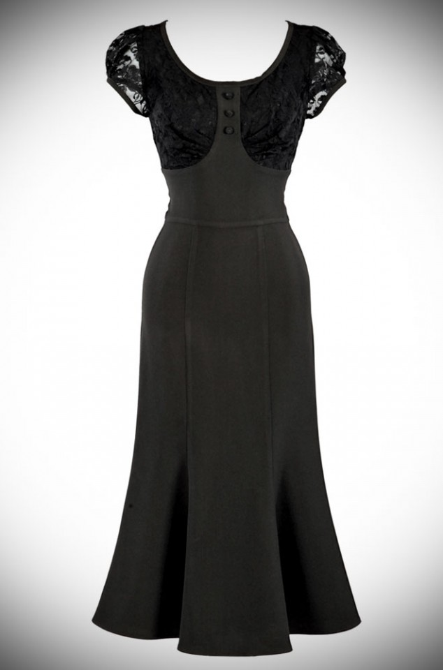 The Twilight dress is a 1940's Film Noir Dress. This LBD is a classic Stop Staring Dress. Deadly is the Female are official UK stockists of Stop Staring!