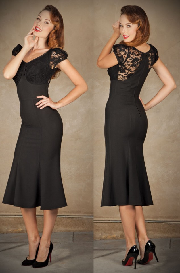 1950s Style Vintage Inspired Wiggle Dresses Deadly Is The Female
