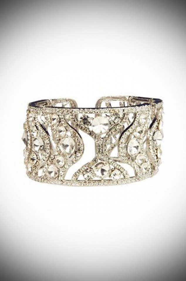 Art Deco Crystal Cuff